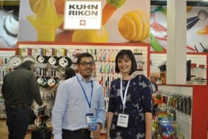 Doug with Vicky from Khun Rikon.