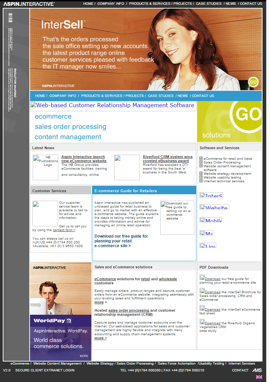 2004 Aspin Interactive homepage