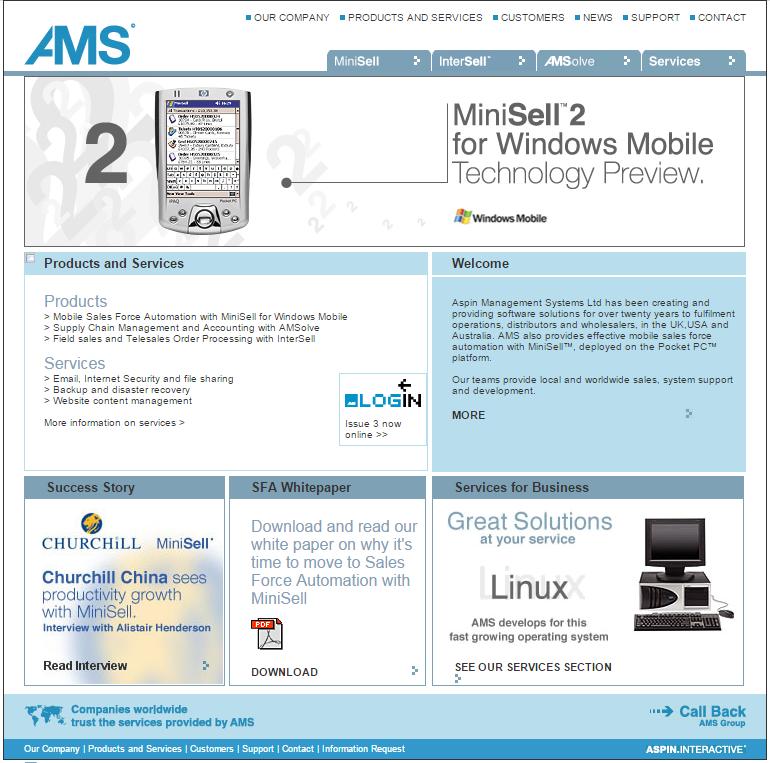 2004 Aspin homepage