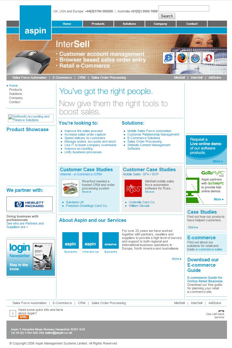 2006 Aspin homepage