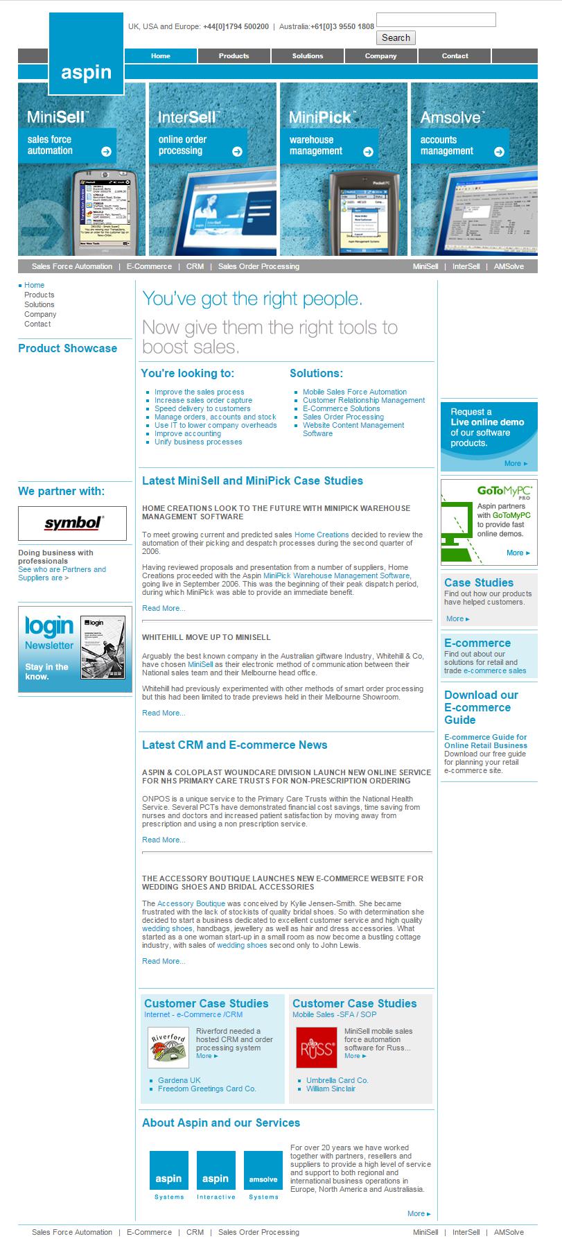 2007 Aspin homepage
