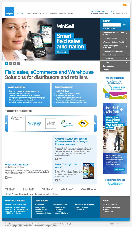 2010 Aspin homepage