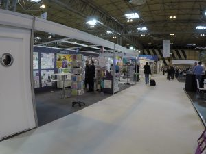 The Abacus stand from afar - using PixSell on the stand!