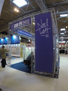 Greeting card distributor Noel Tatt can be found using PixSell in the card hall