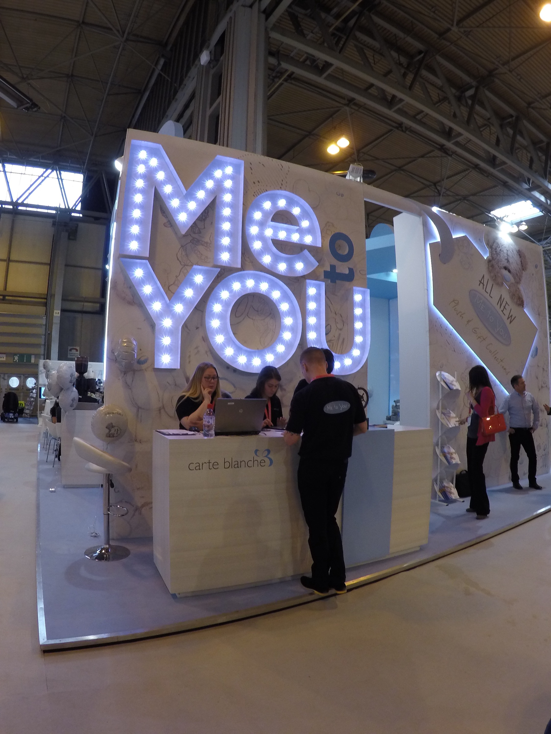 Day 3 at spring fair aspin ipad ordering for reps and trade name up in lights for carte blanche in the greeting cards hall m4hsunfo