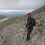 Mike starts to wrap up as we ascend Nevis