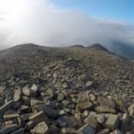 Slight haze and fog on Scafell