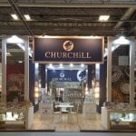 The Churchill China stand in Hall 9
