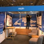 Final touches are made to the Aspin stand