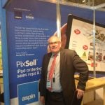 Tony Golby from George East housewares with his quote used on the Aspin stand design