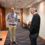 PixSell projects manager Richard Tapley with Alan Smith from JHS