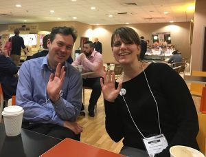 John Gosling from Amscan UK with Stefanie Wollwinder from Amscan Europe GmBH