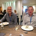 Mark Lancett from Mintons Good Food with Conrad Gates from Westland Horticulture