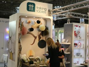Talking Tables sales rep using PixSell to sell their 'Decadent Decs' range