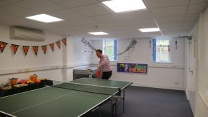 As always - table tennis to start