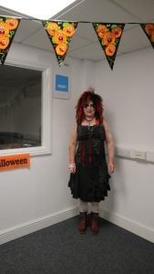Aileen looking fabulously scary