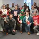 Christmas jumper day at Aspin