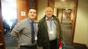 Harvey with Ian Barclay from Lesser & Pavey