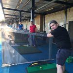 Aspin's keen golfers hit the driving range