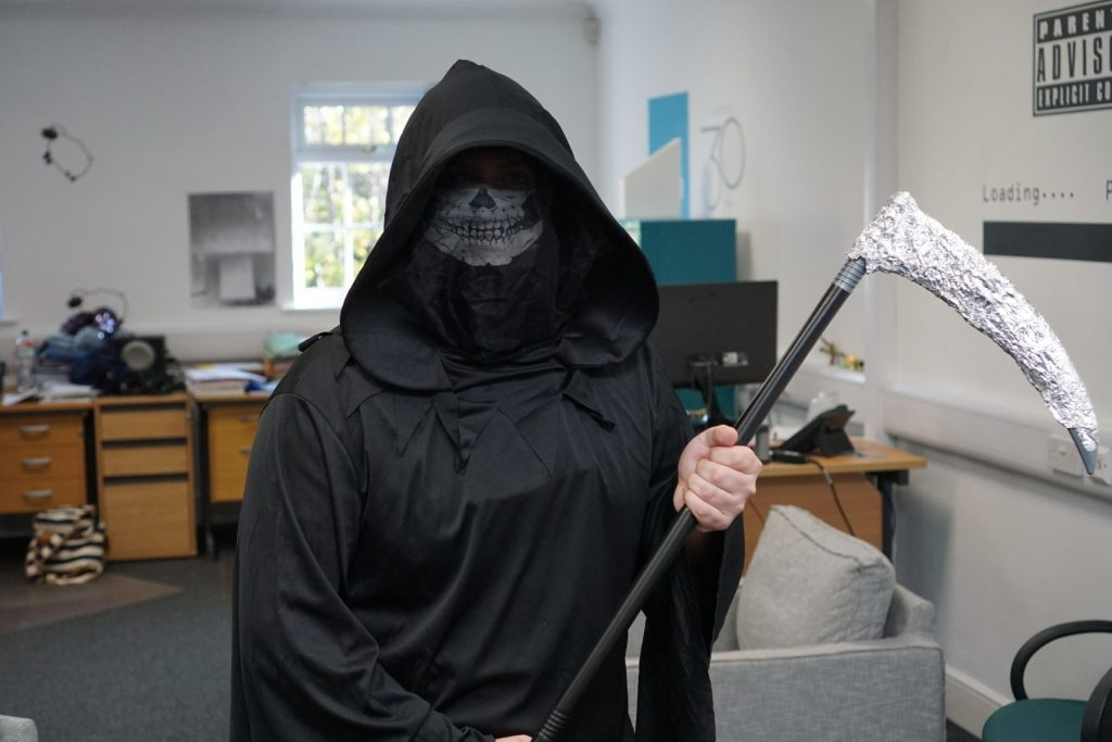 Harvey the grim reaper
