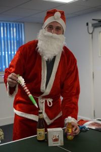 Santa Andy with his elf pen and goodies